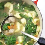meatball tortellini soup with spinach createdbydiane.com