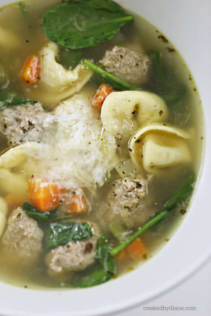 turkey meatball tortellini soup createdbydiane