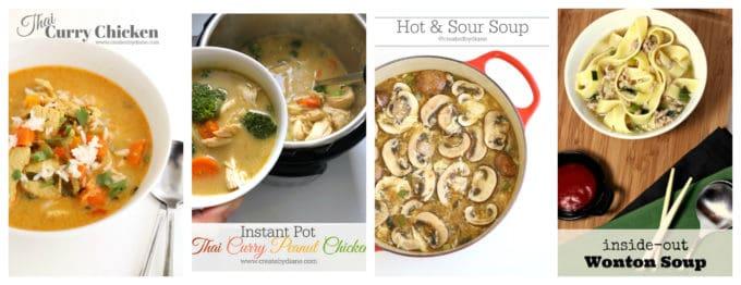 Asian Inspired Soups createdbydiane.com