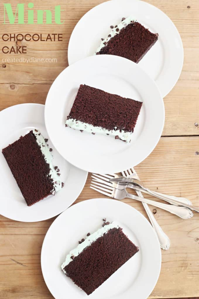 mint frosting on mint chocolate cake