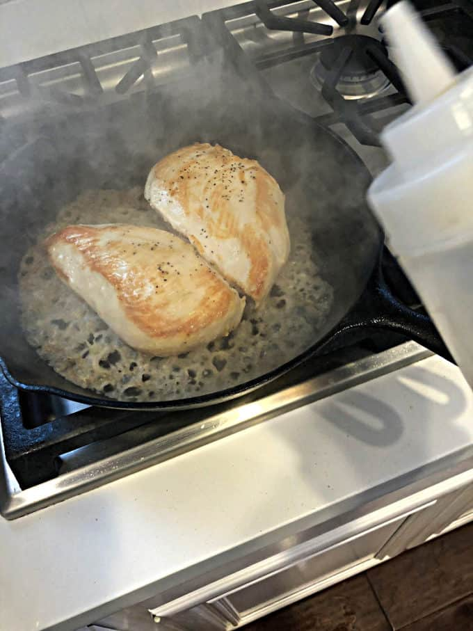 cast iron baked chicken