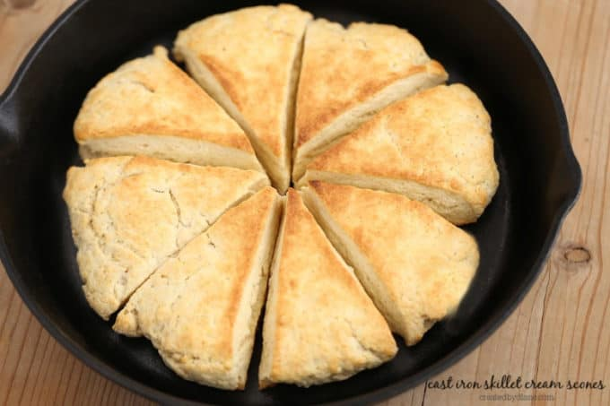 cream scone baked in a skillet