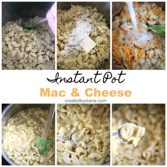 instant pot creamy mac and cheese recipe from createdbydiane.com