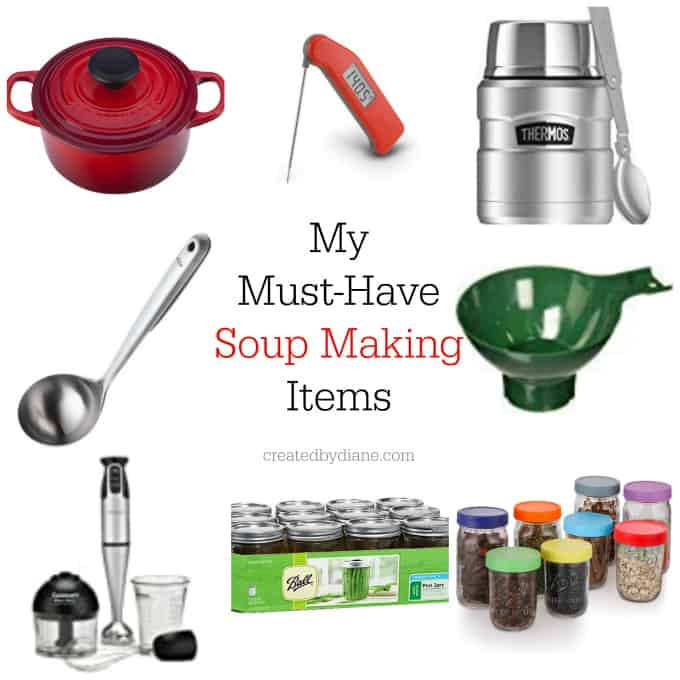 my must have soup making items createdbydiane.com