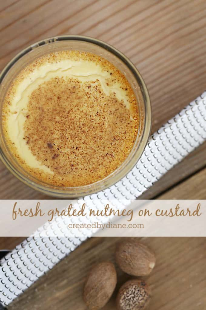 nutmeg on top of baked egg custard createdbydiane.com