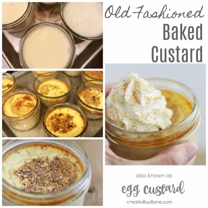 old fashioned baked custard recipe egg custard createdbydiane.com