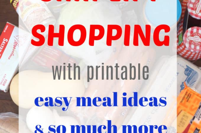 simplify shopping with printable list, recipes and more createdbydiane.com