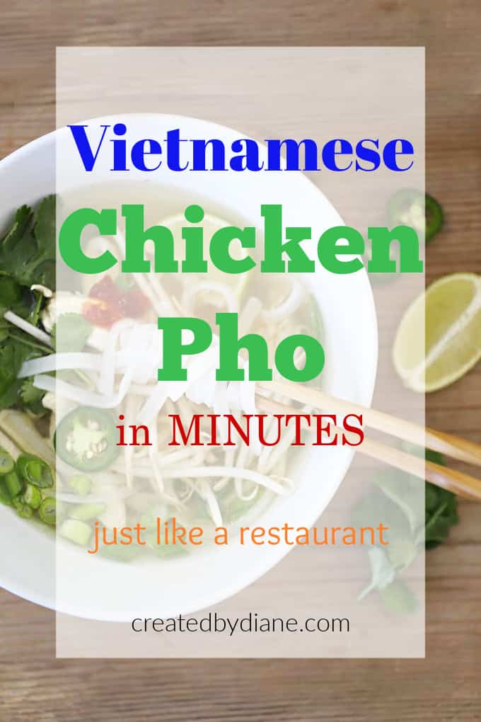 vietnamese chicken pho in minutes, just like a restaurant createdbydiane.com
