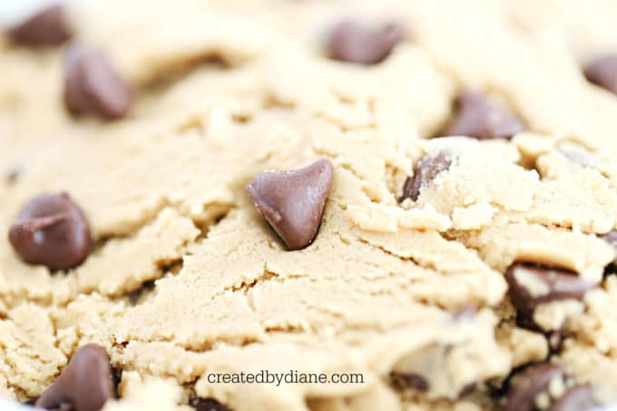 chocolate chip cookie dough recipe createdbydiane.com