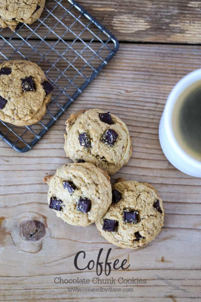 coffee chunk cookie recipe www.createdbydiane.com