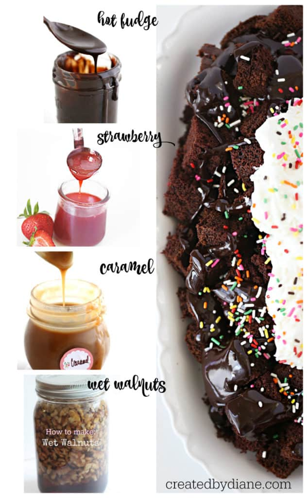 great homemade toppings for cake, ice cream and other desserts createdbydiane.com