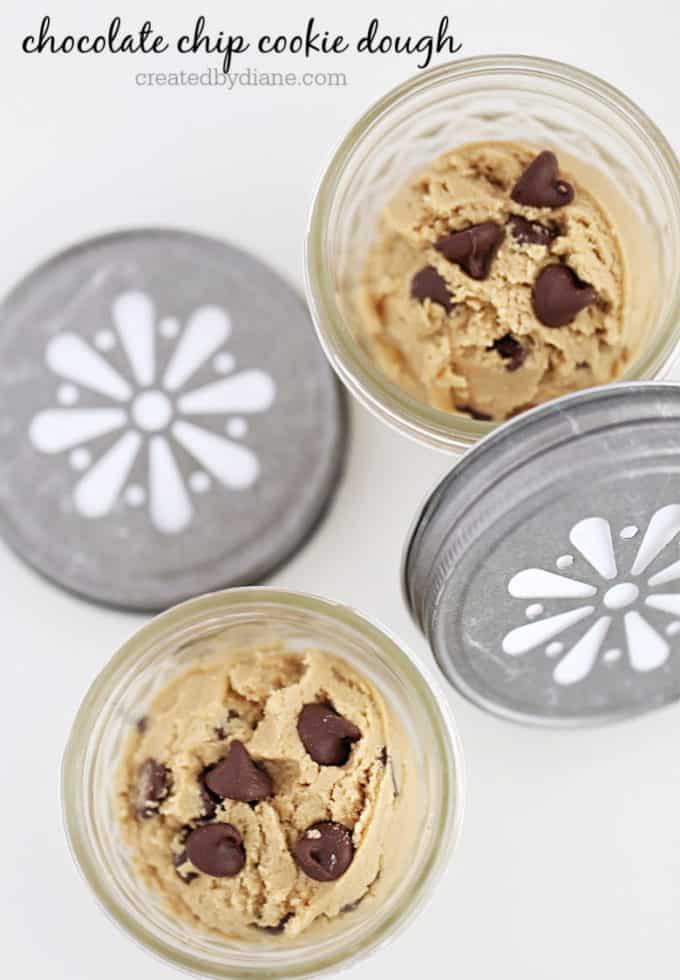 individual chocolate chip cookie dough treats createdbydiane.com