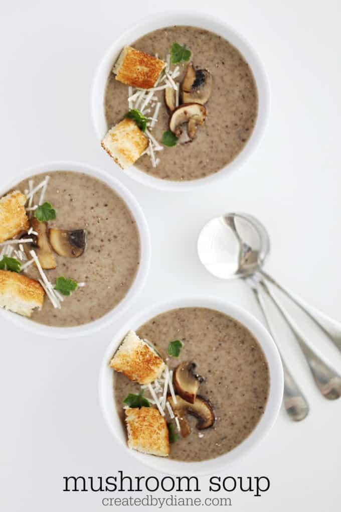 mushroom soup recipe createdbydiane.com