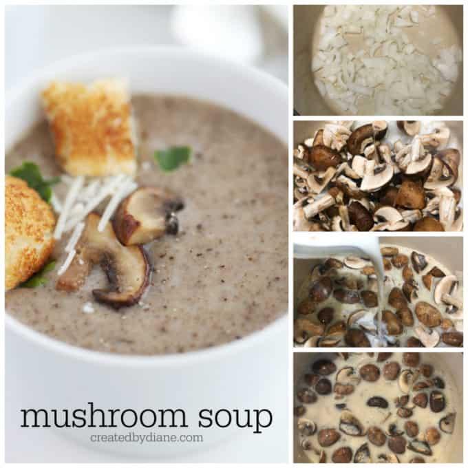 mushroom soup recipe from createdbydiane.com
