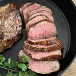 oven roasted tri tip, cooked in a cast iron skillet createdbydiane.com