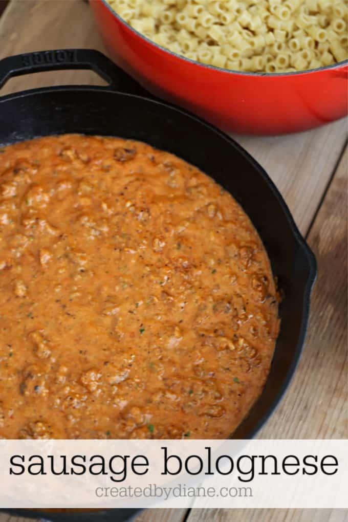 sausage bolognese recipe createdbydiane.com