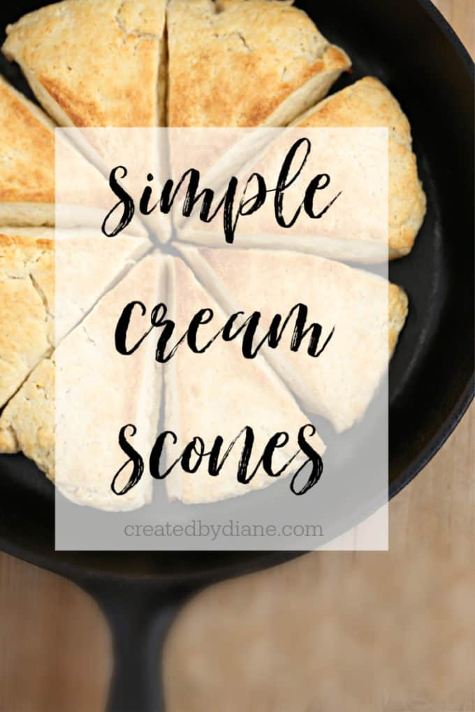 simple cream scones createdbydiane.com