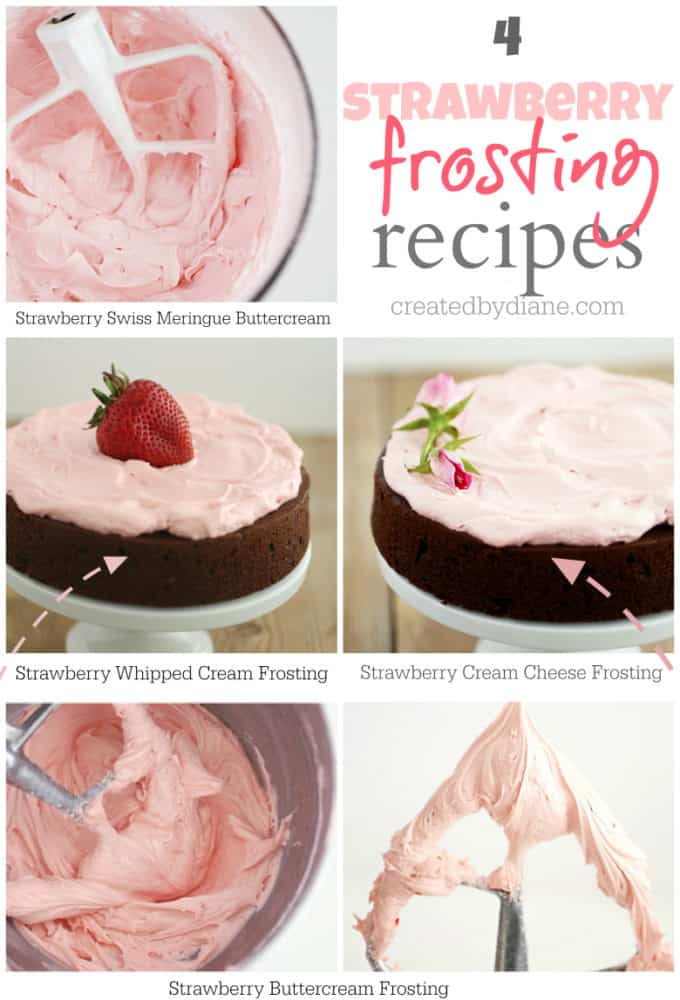 4-GREAT-Strawberry-Frosting-Recipes-createdbydiane.com