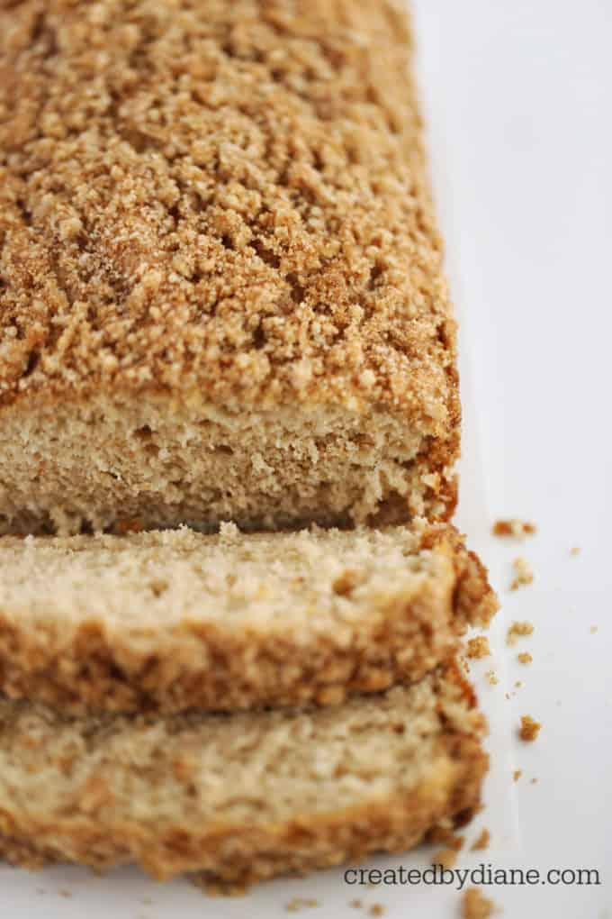 Panckae Loaf with Crumb Topping createdbydiane.com