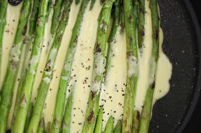 pan roasted asparagus with hollandaise sauce createdbydiane.com