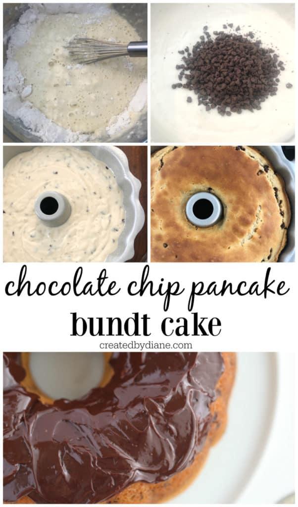 chocolate chip pancake bundt cake recipe createdbydiane.com