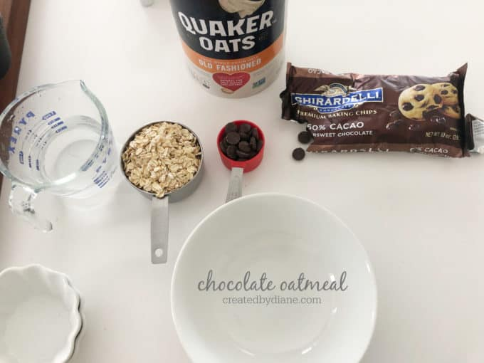 chocolate oatmeal ingredients createdbydiane.com