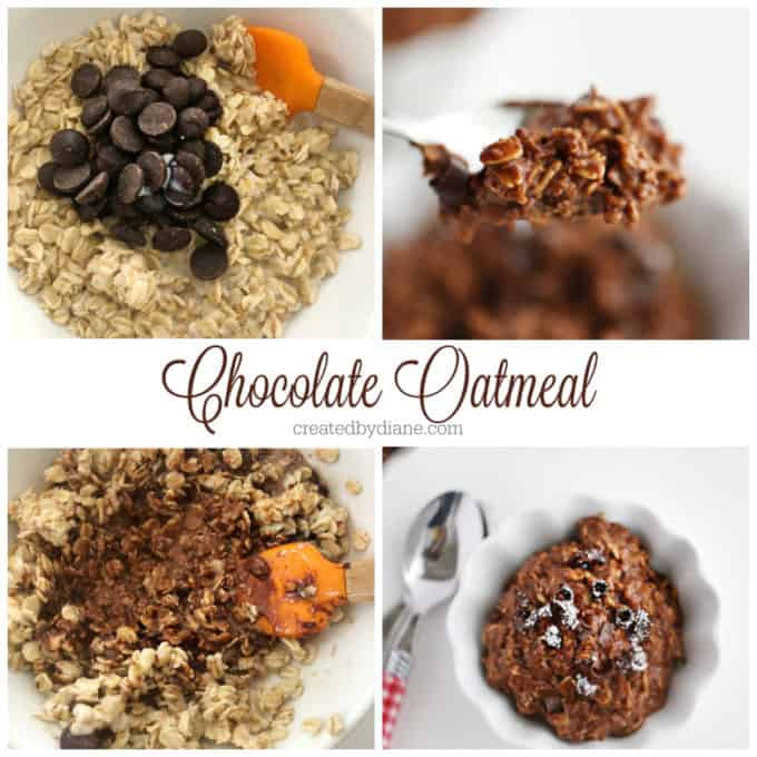 chocolate oatmeal recipes, breakfast, snack, dessert, in one minute createdbydiane.com