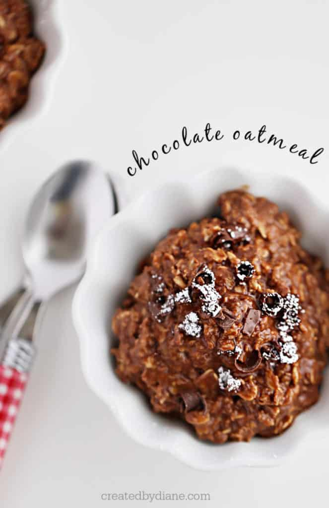 chocolate oatmeal, the perfect dessert in one minute createdbydiane.com