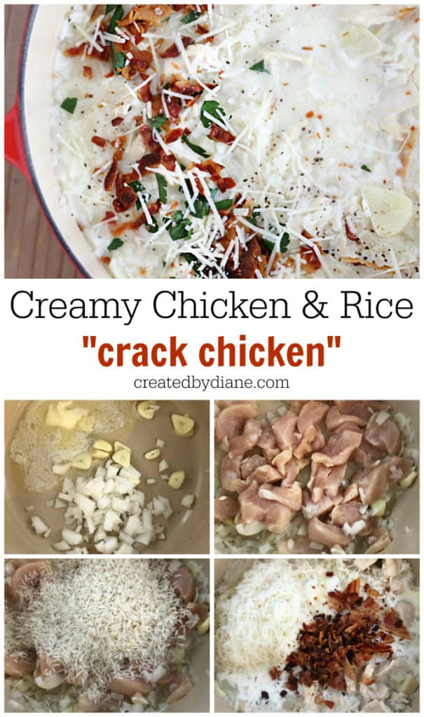 creamy chicken and rice crack chicken createdbydiane.com
