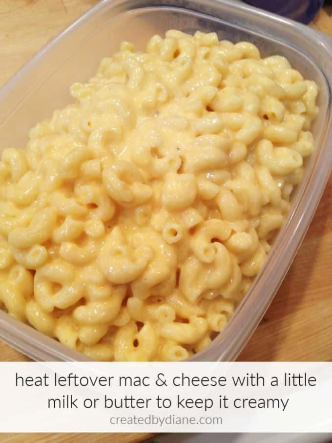 creamy mac and cheese leftover