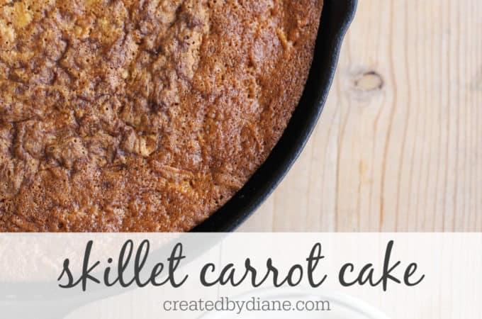 easy skillet carrot cake recipe createdbydiane.com