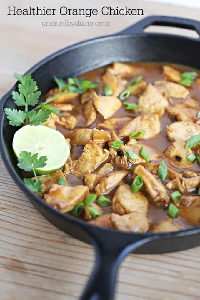 healthier orange chicken recipe from createdbydiane.com