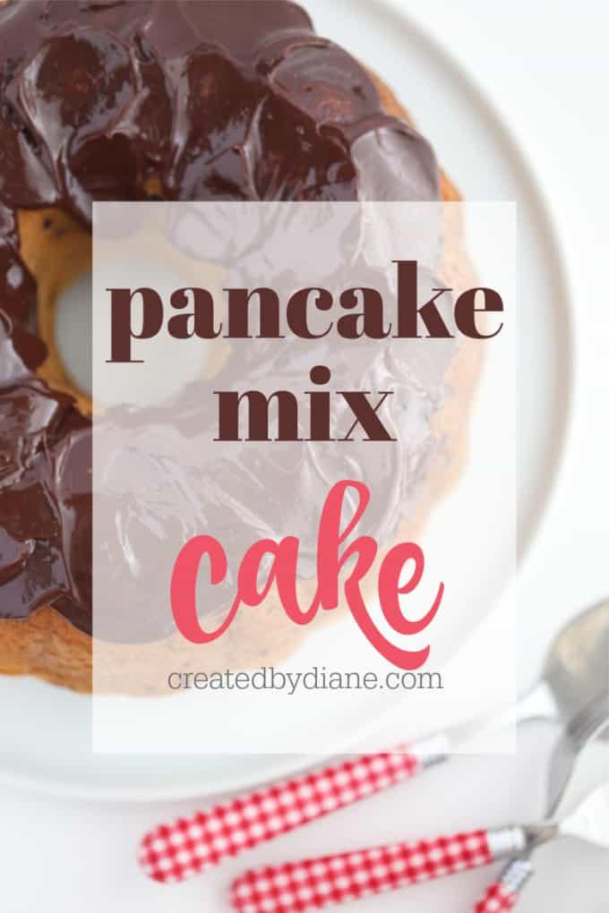 how to make a cake with pancake mix, chocolate chip cake createdbydiane.com