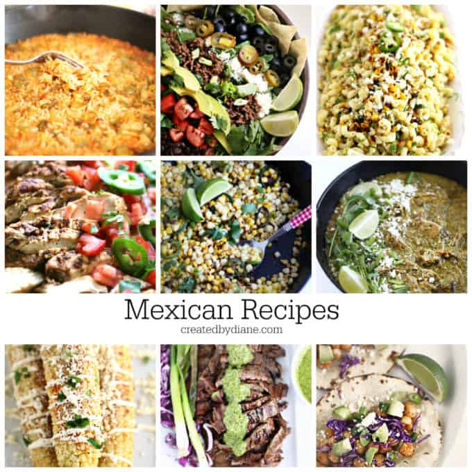 MEXICAN RECIPES createdbydiane.com