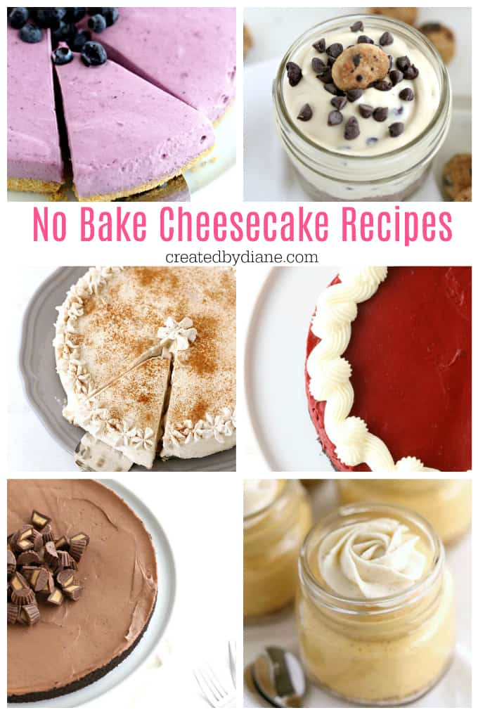 no bake cheesecake recipes createdbydiane.com
