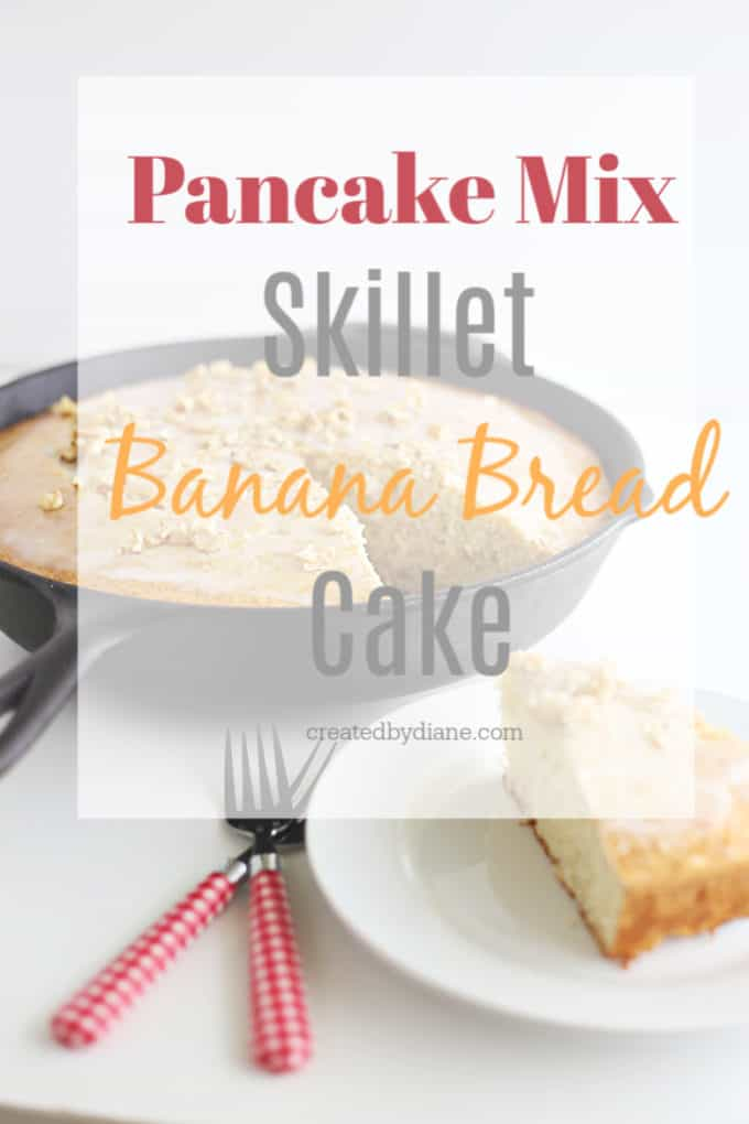 pancake mix banana bread cake recipe from createdbydiane.com