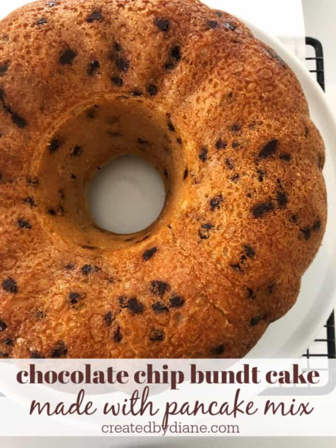 pancake mix cake tastes like chocolate chip pancakes createdbydiane.com