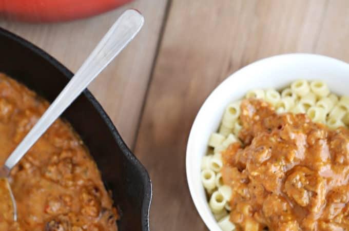 sausage bolognese recipe for pasta createdbydiane.com