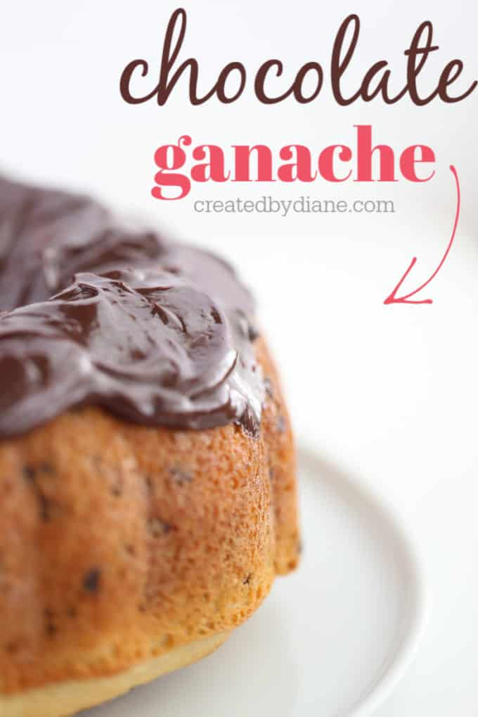 simple chocolate ganache createdbydiane.com
