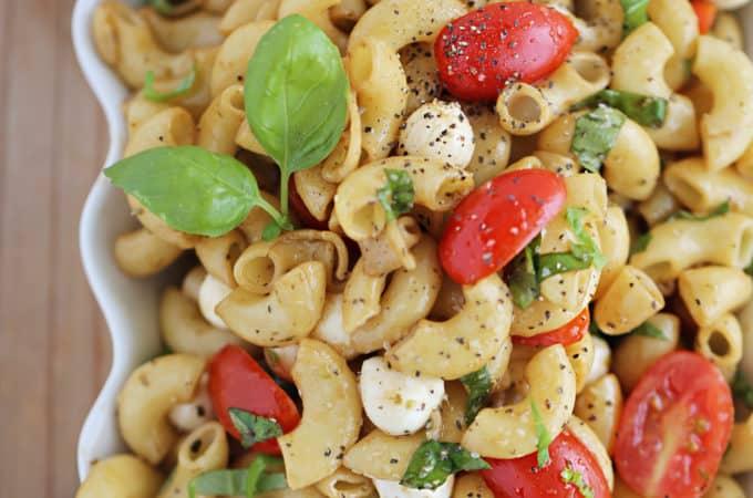Caprese Pasta Salad Recipe createdbydiane.com