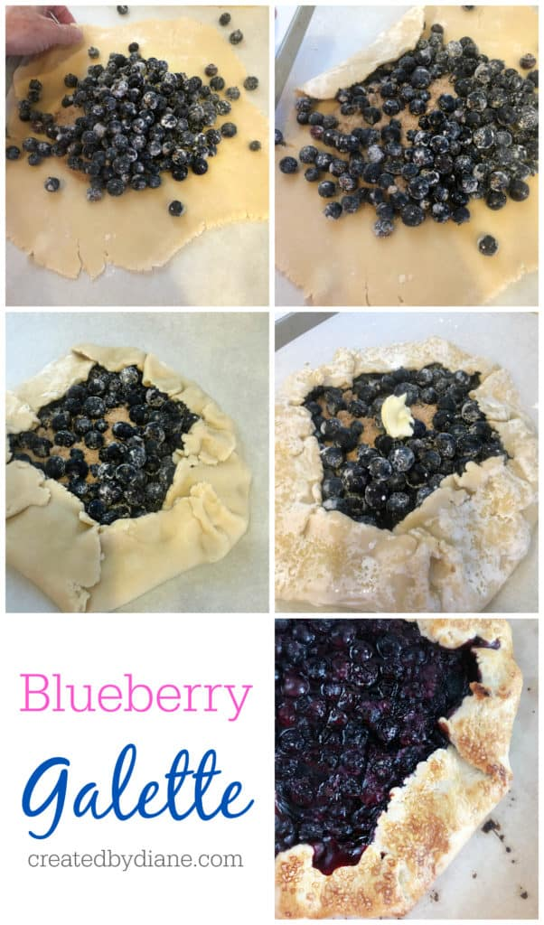 blueberry galette recipe createdbydiane.com