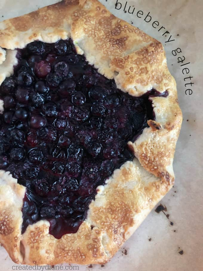 blueberry galette recipe from createdbydiane.com