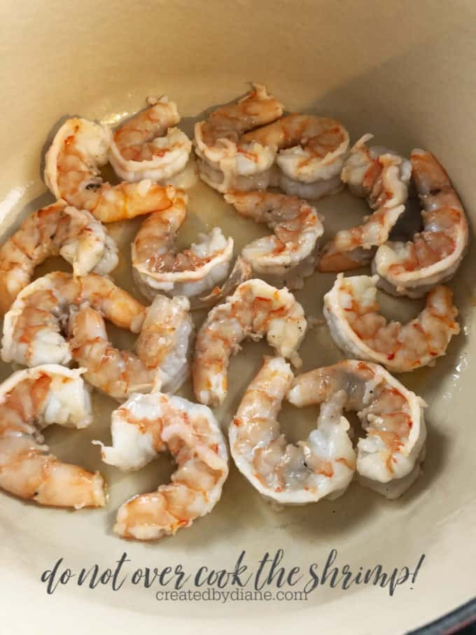 do not overcook shrimp createdbydiane.com
