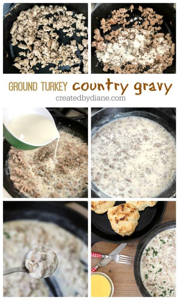 simple and healthy ground turkey country gravy recipe createdbydiane.com