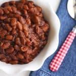 Instant Pot Baked Bean Recipe createdbydiane.com