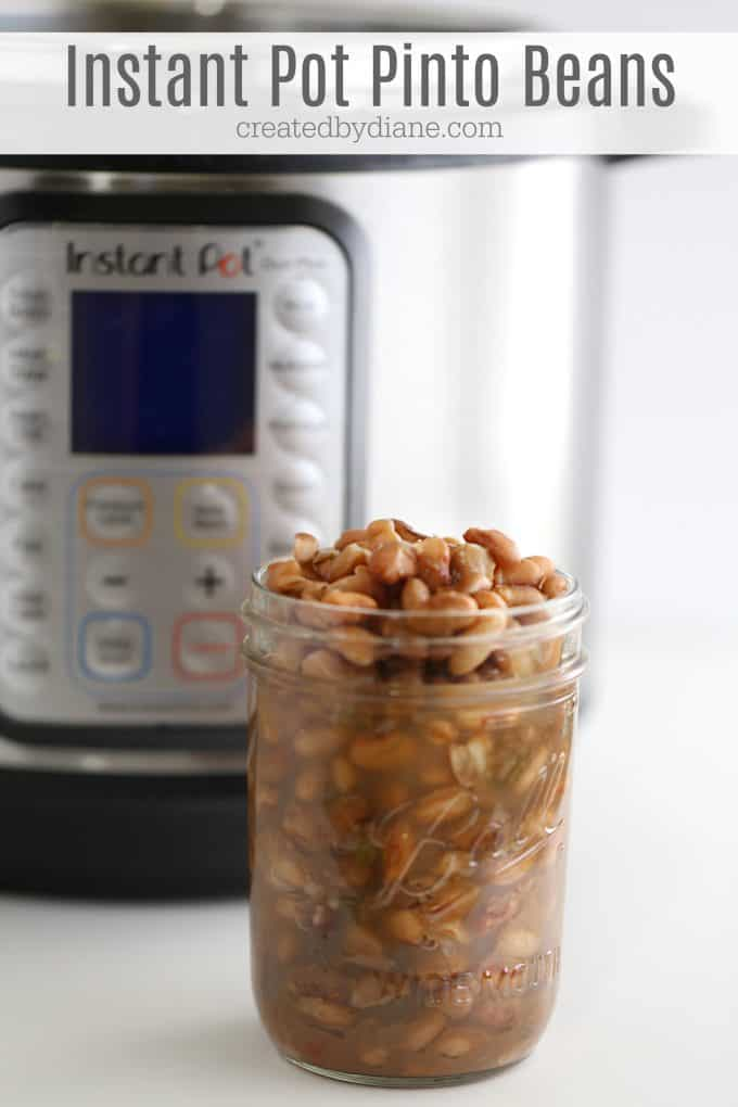Instant Pot Pinto Beans, no presoak, 30 minute recipe createdbydiane.com