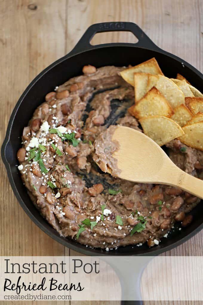 Instant Pot Refried Beans createdbydiane.com