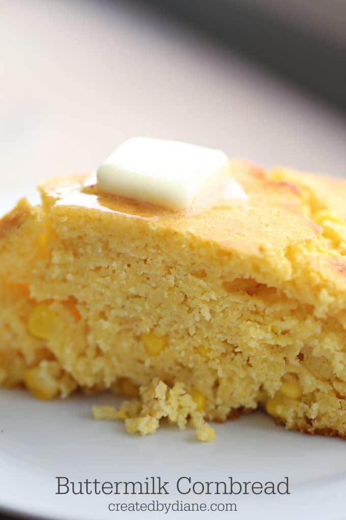 buttermilk cornbread moist delicious with corn or without, add jalapenos, diced chiles, createdbydiane.com