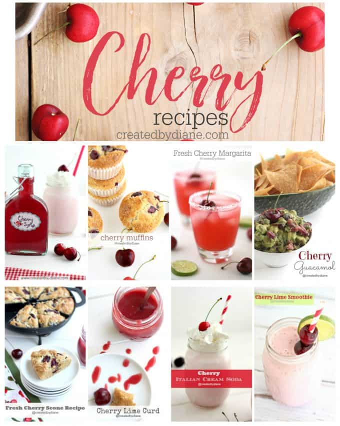 cherry recipes from createdbydiane.com