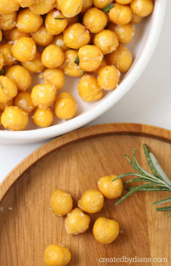 chick peas rosemary and garlic crispy snack